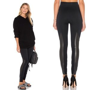 Spanx • Ponte Perforated Black Leggings.